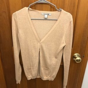 sparkly gold forever 21 sweater